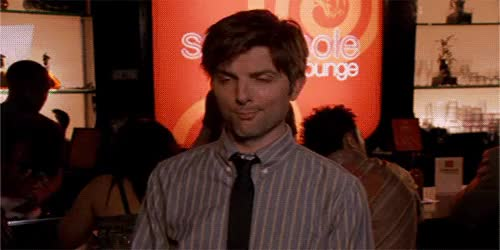 Watch Fear. GIF on Gfycat. Discover more Lol, adam scott, amy poehler, andy dwyer, ann perkins, april ludgate, aubrey plaza, aziz ansari, ben wyatt, chris pratt, i had too, jerry gergich, jim o'heir, leslie knope, nick offerman, par, parks and recreation, rashida jones, ron, ron makes me happy, ron swanson, tom haverford, turnt, up GIFs on Gfycat