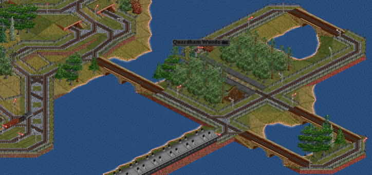 OpenTTD, forestry, trains, OpenTTD Island Forestry GIFs