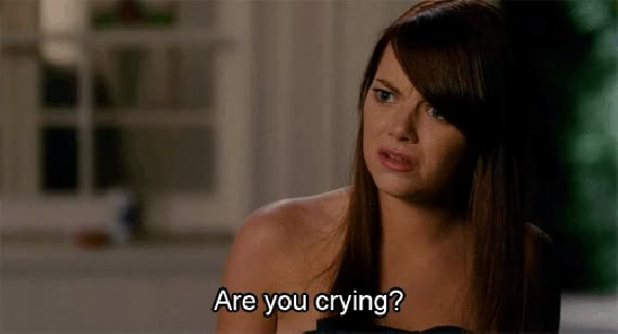 Watch are you crying, bachelorette GIF on Gfycat. Discover more emma stone GIFs on Gfycat
