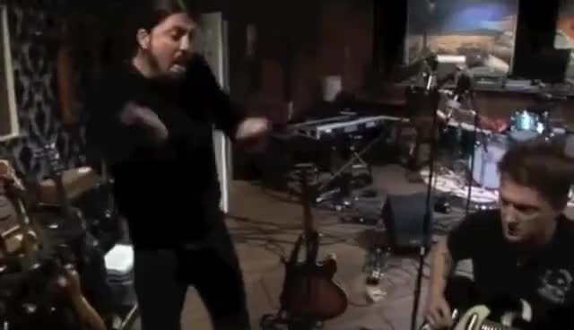 Dave Grohl in Drums GIFs