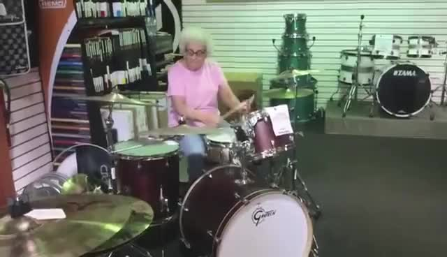 Watch Grandma drummer GIF on Gfycat. Discover more funny GIFs on Gfycat