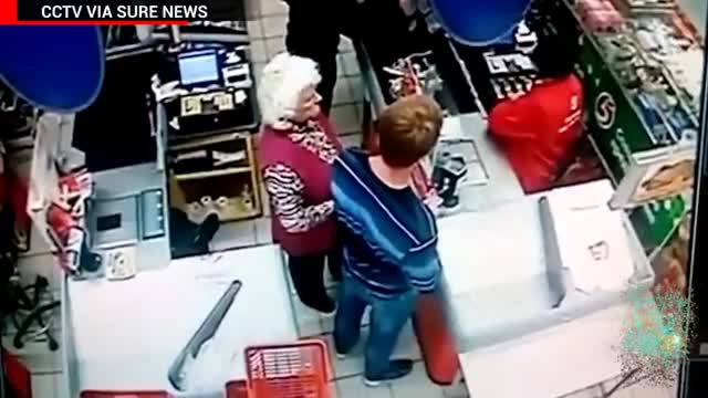 Watch Sucker punch knockout: man KO's Grandma for invading personal space in the checkout line- TomoNews GIF on Gfycat. Discover more Russia, education, educational, knockout, news, nma, politics, suckerpunch, tomonews GIFs on Gfycat