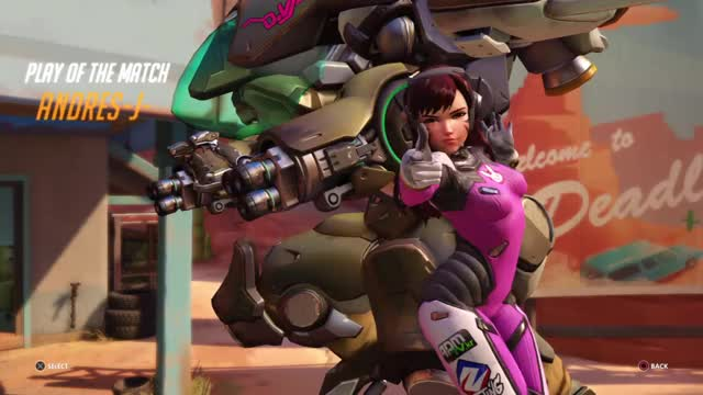 Overwatch d`va play of the game video