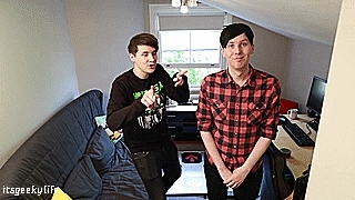 adorable dancing, adorbs, amazing phil, amazingphil, dan and phil, dan and phil gaming channel, dan and phil play dance dance revolution, dan and phil play ddr, dan howell, danandphilgames, danisnotonfire, ddr, phil lester, three-legged ddr challenge, Geek Girls GIFs