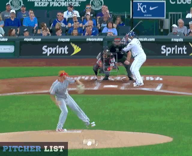 Watch and share Kansas City Royals GIFs and Baseball GIFs by Pitcher Giffer on Gfycat