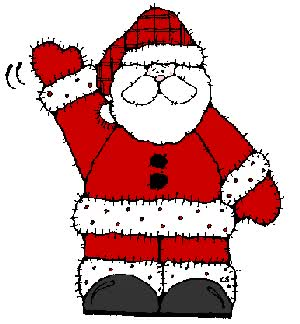 Watch and share Santa Claus Waving animated stickers on Gfycat