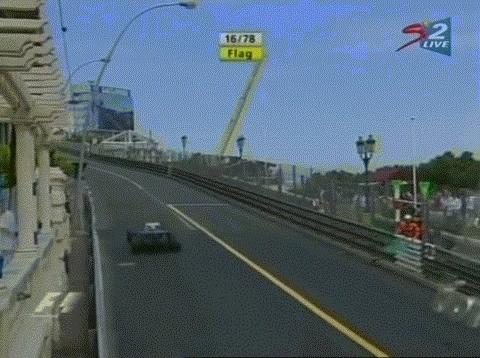 formula1, Villeneuve-Massa Monaco '05 GIFs