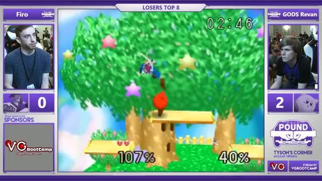 Pound 2016 - Firo (Link) Vs. GODS | Revan (Kirby) SSB64 Losers Top 8 - Smash 64