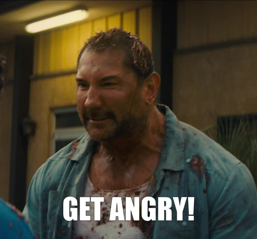angry, dave bautista, frustrated, mad, stuber, stuber movie, Dave Bautista Get Angry GIFs