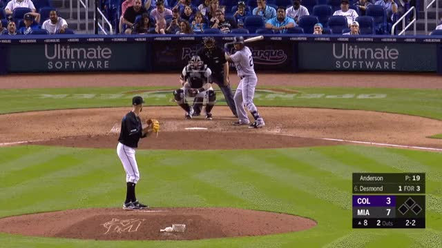 Watch and share Colorado Rockies GIFs and Miami Marlins GIFs by _ben_clemens on Gfycat
