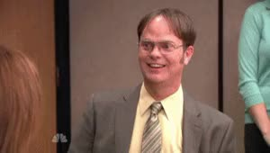 Watch and share Rainn Wilson GIFs and Smiling GIFs by Reactions on Gfycat