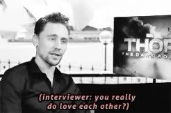Watch and share Chris Hemsworth GIFs and Tom Hiddleston GIFs on Gfycat