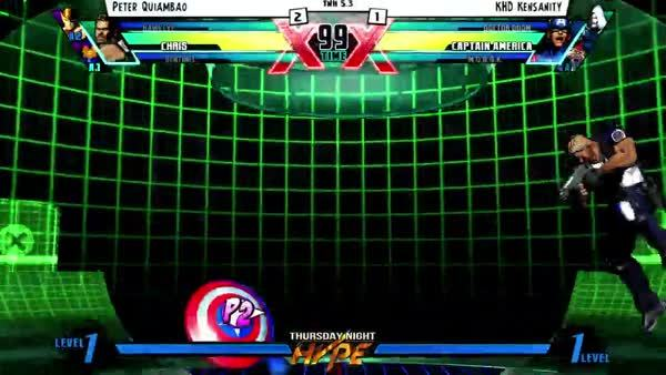 mvc3, Cool conversion I got with Chris in tournament this week. Crazy how we can come up with new tech on the fly sometimes. (reddit) GIFs