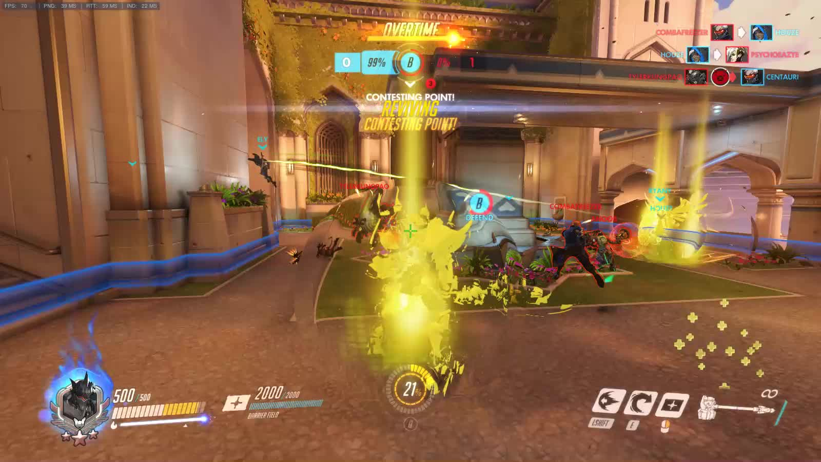 60fpsgifs, overwatch, videogamestunts, The Luckiest Rein GIFs