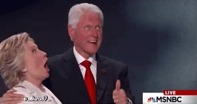 Watch Bill Clinton and Hillary Clinton reaction at the DNC GIF by MarcusD (@-marcusd-) on Gfycat. Discover more Bill Clinton GIFs on Gfycat
