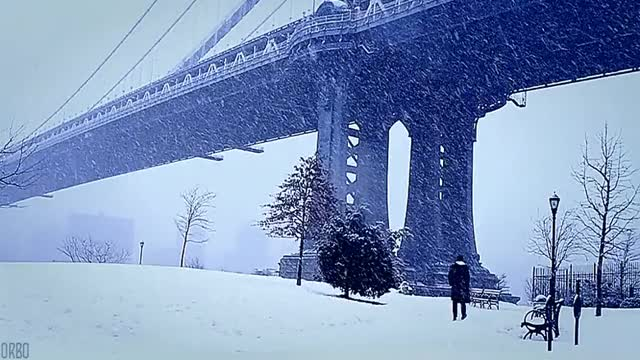 Watch and share Bridge Bridge Snowy Manhattan Bridge. (reddit) GIFs by orbojunglist on Gfycat