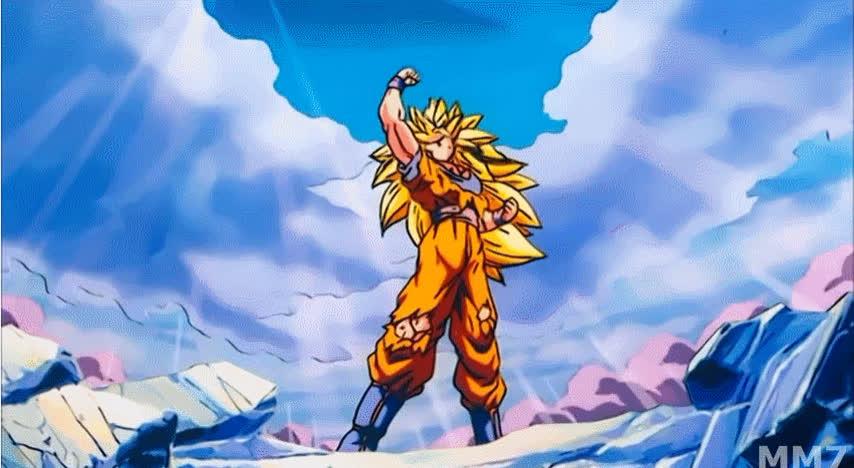 Super Saiyan 3 Goku Strikes A Victory Pose After Winning An Epic