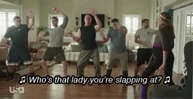 Watch Playing HouseDancing Meatballs Bloopers GIF on Gfycat. Discover more BFF, Bobby Moynihan, Lennon Parham, Playing House, Playing House USA, comedy, dancing meatballs, ian roberts, keegan-michael key, usa network, womp it up GIFs on Gfycat