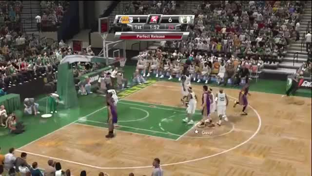 Watch and share NBA 2K9 Celtics Vs Lakers 2008 Finals GIFs by strawberryshortcake on Gfycat