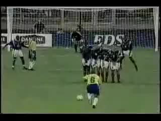 Watch and share 1997 Roberto Carlos Free Kick Vs. France GIFs on Gfycat