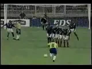 Watch and share 1997 Roberto Carlos Free Kick Vs. France GIFs on Gfycat