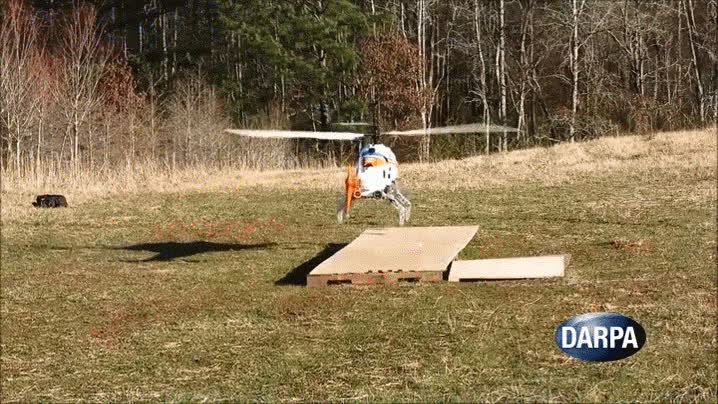 DARPA's Uncanny Robot Legs Will Let Helicopters Land Virtually Anywhere GIFs