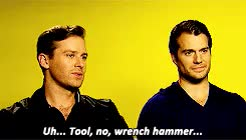 Watch and share Armie Hammer GIFs and Henry Cavill GIFs on Gfycat