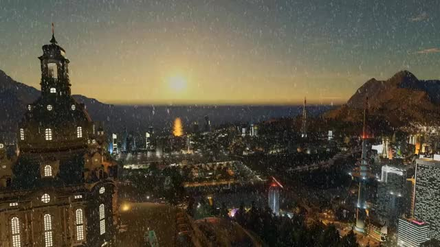 Watch and share Sunrise Snowfall GIFs on Gfycat