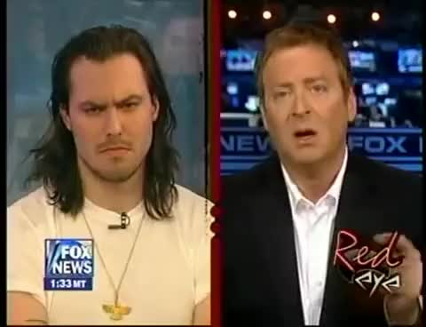 Watch and share Andrew WK Fox News Demon Face GIFs on Gfycat