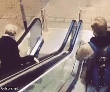 Watch and share Animated Gif GIFs and Escalator GIFs on Gfycat