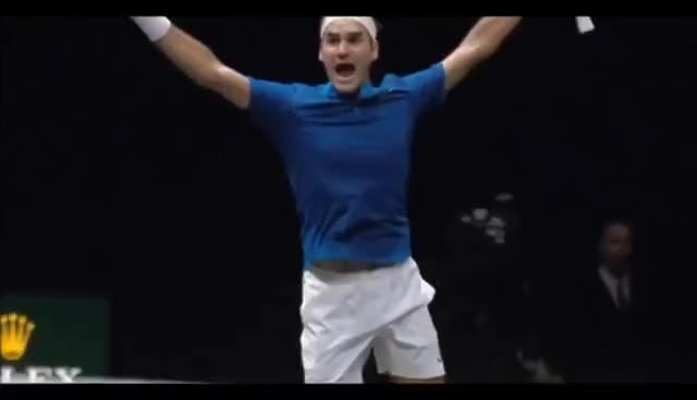 roger federer, success, victory, win, winning, Roger Federer Wins Laver Cup 2017 For Team Europe GIFs