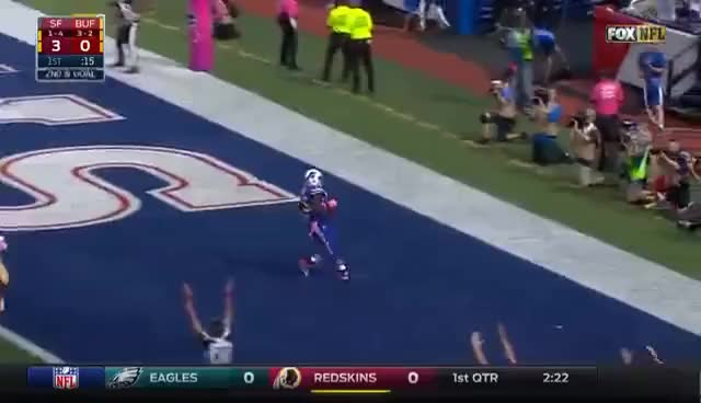 Watch and share LeSean McCoy Runs In 2 First-Half TDs! | 49ers Vs. Bills | NFL GIFs on Gfycat