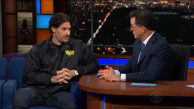 Watch Manganiello & Stephen Discuss 'Dungeons & Dragons' Only GIF on Gfycat. Discover more Colbert, Dungeons, Evergreen, Hollywood, Humor, cbs, celeb, celebrities, celebrity, comedian, comedy, dnd, dragons, famous, funny, interview, interviews, joke, jokes, nonrecurring GIFs on Gfycat