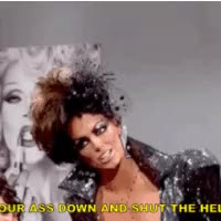 Watch and share Shut Your Bitch Ass Up Photo:  Doublebitch_zpsauqns2hy.gif animated stickers on Gfycat