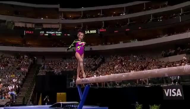 Watch Courtney McCool 2004  bars GIF on Gfycat. Discover more Courtney McCool, gymnastics GIFs on Gfycat