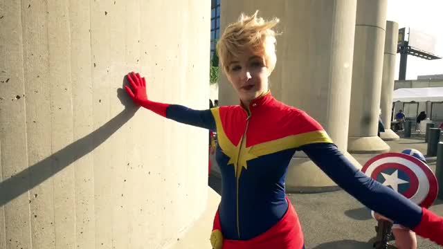 Watch this captain marvel GIF by Geo (@geoholyhart) on Gfycat. Discover more Captain Marvel, Carol, Comic Con, Denvers, Kahn, Kamala, Ms Marvel, NYCC, brie larson, captain marvel, carol, carol danvers, comic con, denvers, kahn, kamala, marvel, marvel cinematic universe, mcu, ms marvel, nycc GIFs on Gfycat