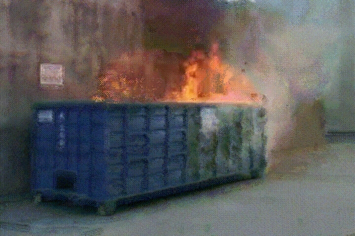 brokengifs, Worn-out Dumpster Fire GIFs