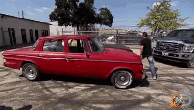 Watch and share GIFs: Richard Stomps A Junk Car GIFs on Gfycat