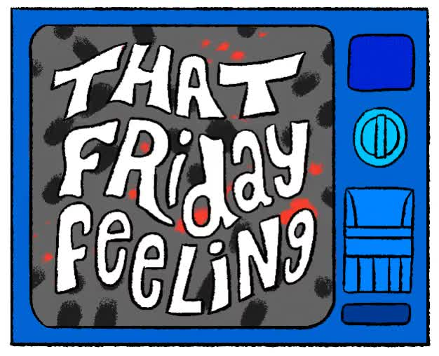 Watch this friday GIF by The GIF Smith (@sannahparker) on Gfycat. Discover more celebrate, excited, friday, friday feeling, stephen maurice graham, tgif, weekend GIFs on Gfycat