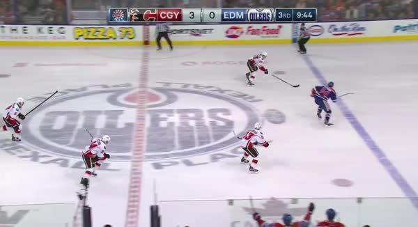 edmontonoilers, hockey, Flames 3-on-1 GIFs