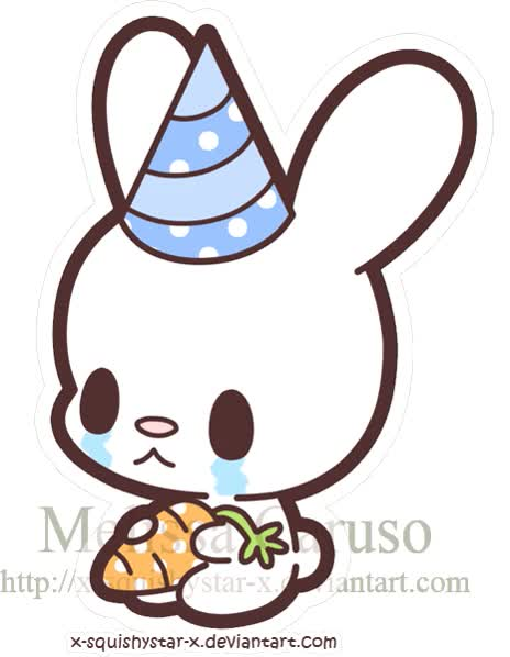Watch and share Sad Bunny Gift By X-SquishyStar-x animated stickers on Gfycat