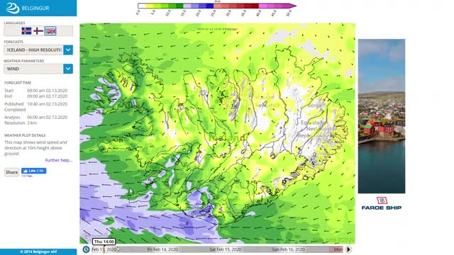 Watch and share Wind Forecast For Iceland 13. Feb - 16. Feb GIFs by Einhverfa on Gfycat