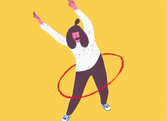 celebrate, happy, hoola, hoop, move, out, work, yeah, yeay, yoohoo, Celebrate GIFs