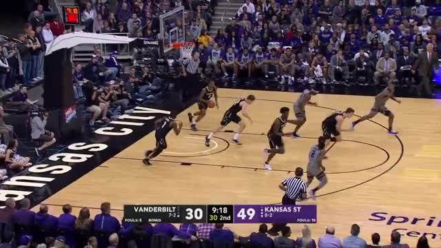Watch Vanderbilt vs Kansas State - NCAA Basketball 2018 | 22/12/2018 GIF by @gyrateplus on Gfycat. Discover more American basketball, NCAA basketball, NCAA basketball 2018, basketball, college basketball, ncaa, ncaa 2018, ncaam, ncaam 2018, student league GIFs on Gfycat