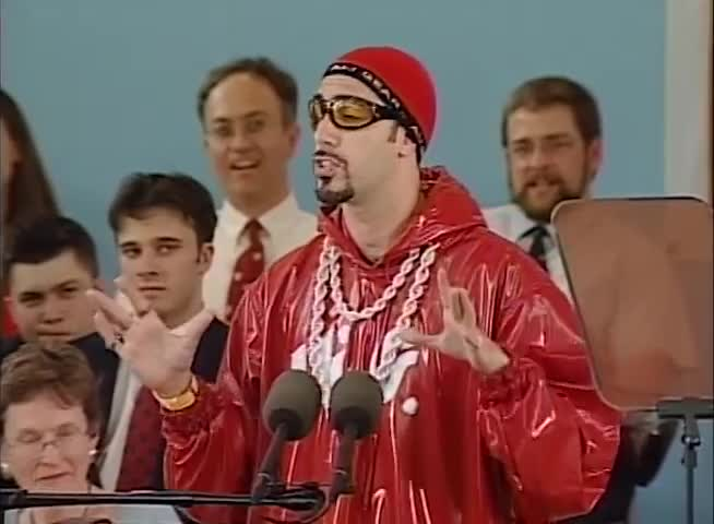 Ali G (Film Character), Comedy (Film Genre), Graduation (Field Of Study), Harvard University (College/University), Sacha Baron Cohen (Celebrity), commencement, commencement speech, graduation address, graduation speech, Not everyone likes Ali G's comedy GIFs