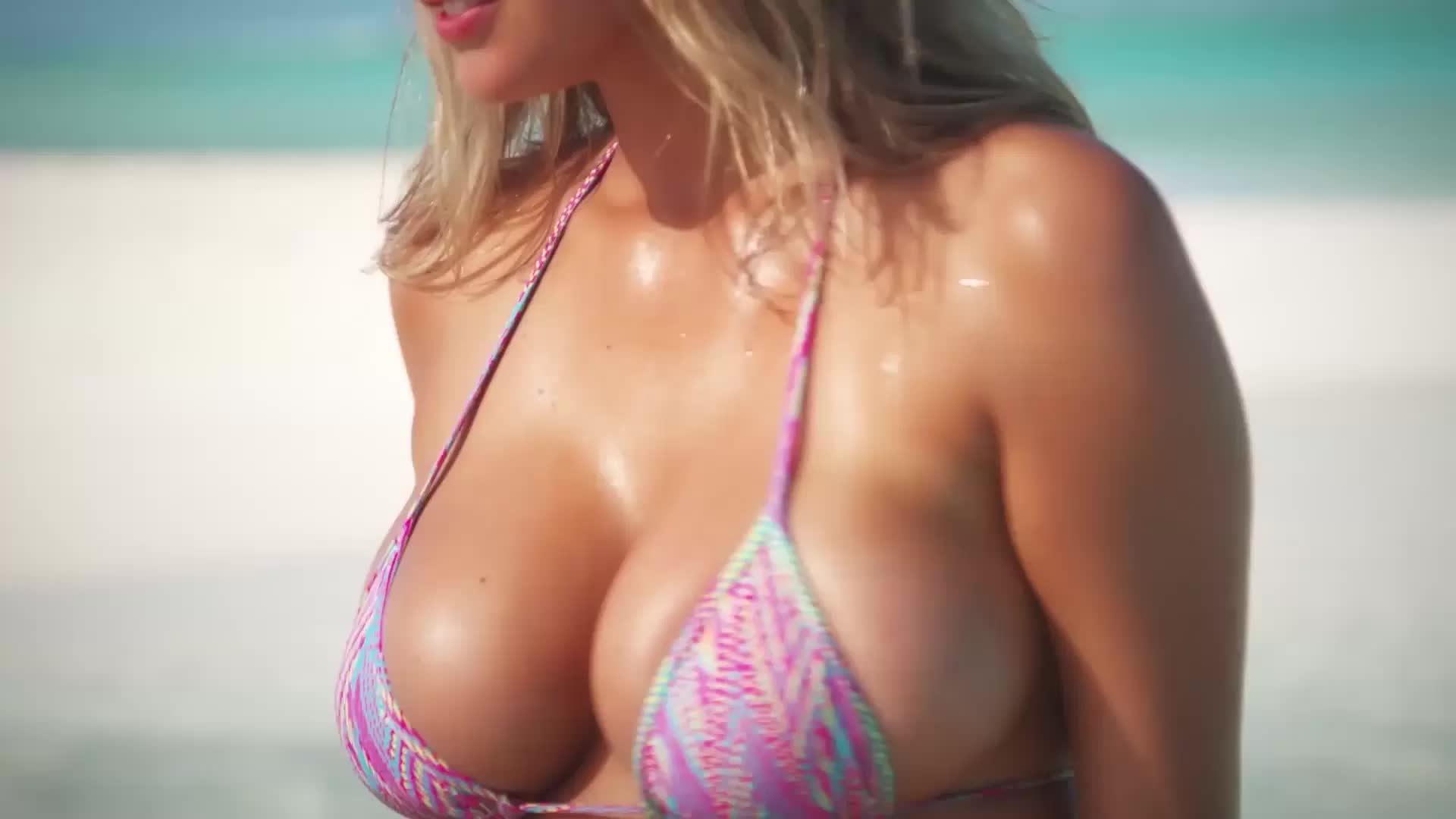 Kate Upton big tits swimsuit video