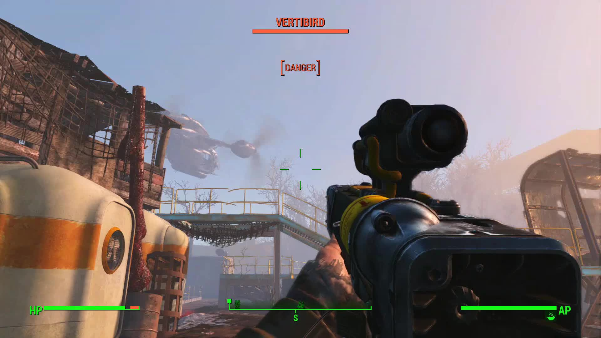fallout4, gunner, xboxone, Gunners Attack Me With Vertibird - Stranger Finishes Them GIFs
