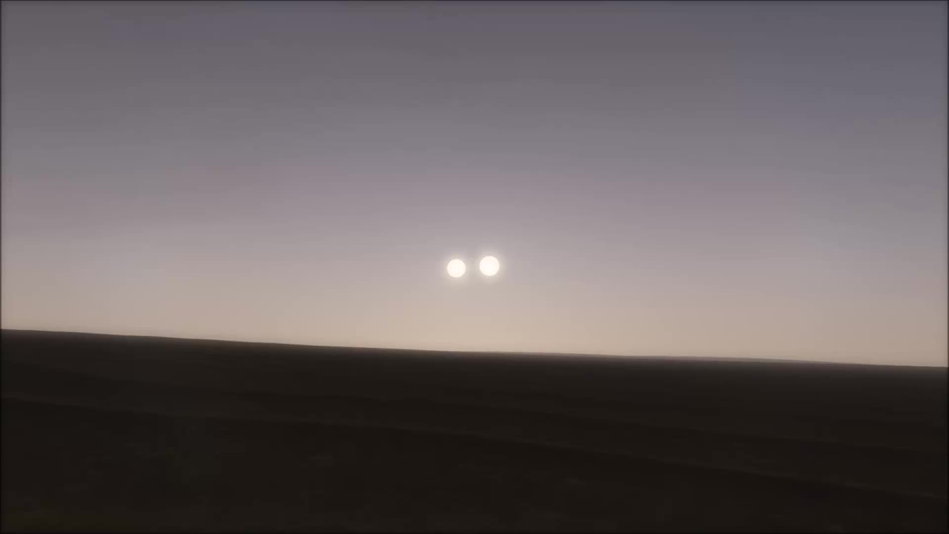 spaceengine, This planet darkens every 12 hours when one of its stars passes in front of the other (reddit) GIFs