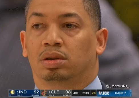 Watch and share Tyronn Lue Confused Reaction GIFs by MarcusD on Gfycat