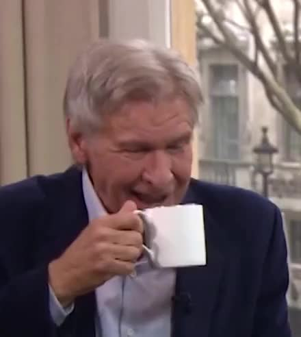 Watch this harrison ford GIF by GIF Queen (@ioanna) on Gfycat. Discover more coffee, ford, harrison, harrison ford, laugh, lol, loud, morning, this GIFs on Gfycat